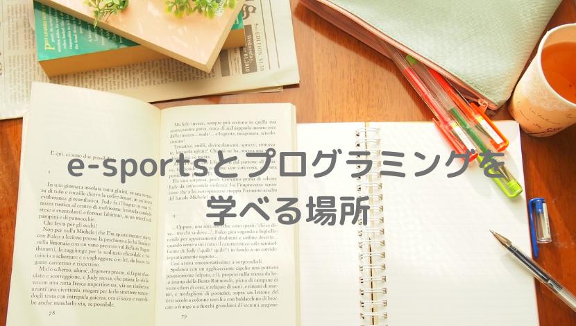 eスポーツ、プログラミング、学ぶ